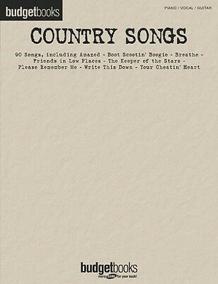Country Songs Sheet Music Budget Books Piano Vocal Guitar Songbook NEW 000310833 on Rummage