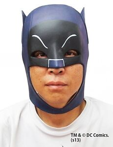 Japan Cosplay BATMAN MASK Classic TV 1966 Party Toy Prop Head Rubber Freesize