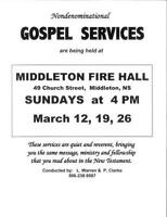 GOSPEL SERVICES - Nondenominational - ALL ARE WELCOME!