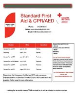 Red Cross Standard First Aid/CPR Class