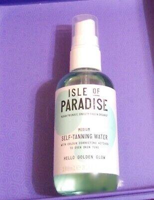 Isle of Paradise Self-Tanning Water MEDIUM Golden Glow Travel Size 3.38 oz new