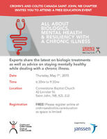 Crohn's & Colitis Canada Education Session- Saint John