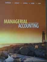TEXTBOOK - MANAGERIAL ACCOUNTING - Ninth Canadian edition