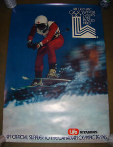 RARE 1980 LAKE PLACID WINTER OLYMPIC CANADIAN SKI PROMO POSTER