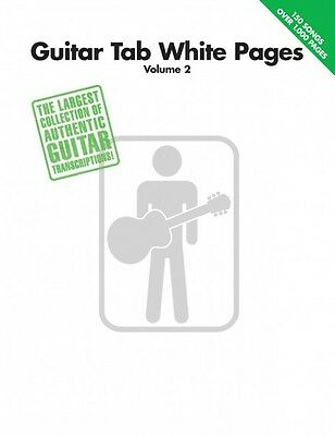 Guitar Tab White Pages Volume 2 Sheet Music Guitar Tablature Book NEW 000699557