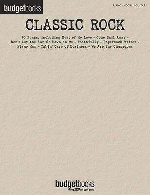 Classic Rock Sheet Music Budget Books Piano Vocal Guitar Songbook NEW 000310906