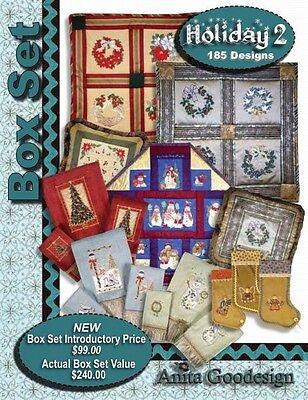 HOLIDAY BOX SET #2 Anita Goodesign Embroidery Designs CD