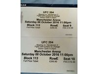 2 x UFC 204 Bisping vs Henderson Block 113 Face Value