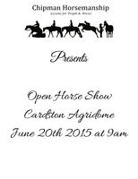 Open Horse Show, June 20th Cardston AB