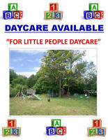 LICENSED HOME DAYCARE AVAILABLE