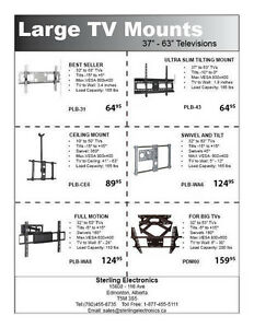 Wall Mounts for Every Size LCD & Plasma And DLP Bulbs Edmonton Edmonton Area image 2