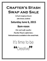 Crafter's Stash Swap and Sale