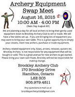 Archery Equipment Swap Meet