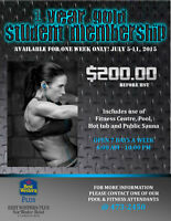 1 YEAR STUDENT MEMBERSHIP $200 BEFORE HST
