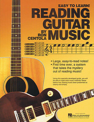 Reading Guitar Music Learn How to Read Beginner Lessons Ron Centola Book NEW