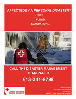 Experience a personal disaster? Call the Canadian Red Cross!