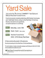 3rd Annual CHARITY Yard Sale