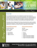 First Aid/CPR - N. College