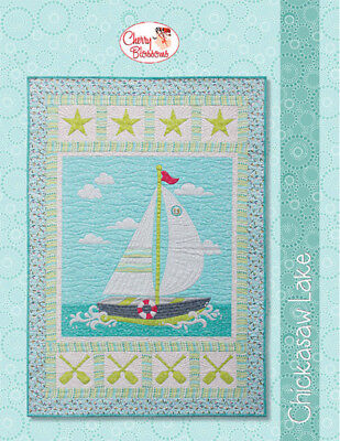 Chicasaw Lake by Cherry Guidry Modern Applique Quilt Pattern with SVG -