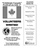 """Volunteers needed for """"Celebrate Canada"""" Festival on Canada Day"""
