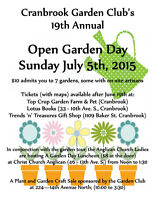 Cranbrook Garden Club's 19th Annual Open Garden Day
