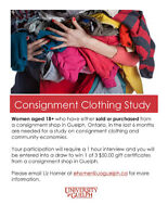 Consignment Clothing Study