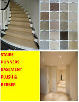 CARPET FLOORING FULL COVERAGE * MATERIAL & INSTALL* STAIRS & RUN