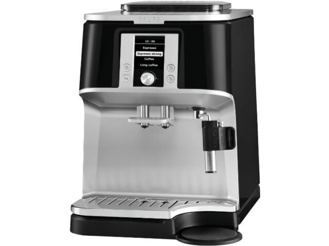 new krups ea 8340 automatic coffee machine black stainless. Black Bedroom Furniture Sets. Home Design Ideas