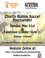 Bubble Soccer Tournament for Women's Community House