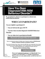 Have you been diagnosed with REM Behaviour Disorder?