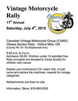 Canadian Vintage Motorcycle Rally : Oxford Mills Ontario