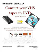 VHS to DVD - Prints and negatives to digital images