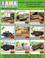 LOWEST PRICE IN GTA ON ALL YOUR SECTIONAL NEEDS FACTORY DIRECT