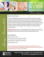 Basic Foot Care - N. College