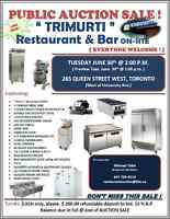 AUCTION Restaurant/Bar ON-SITE June 30 2:00 pm @ 265 Queen St. W