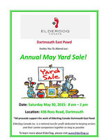 Annual MayYard Sale - ElderDog Dartmouth East
