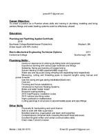 plumbing apprentice ready to work for free