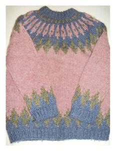 Chandail en laine d'Islande tricoté main