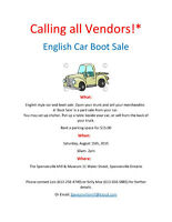 English Style Car Boot Sale