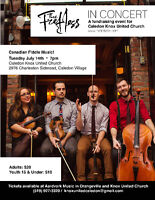 The Fretless in Concert, Presented by Knox United Church Caledon