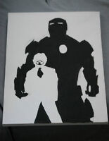 Iron Man painting on 12X16 inch canvas, will deliver