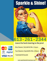 Affordable, Professional, Insured Cleaning Services