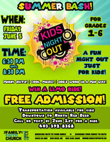 Kids Night Out Summer Party!