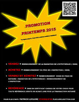 PROMOTION PRINTEMPS 2015