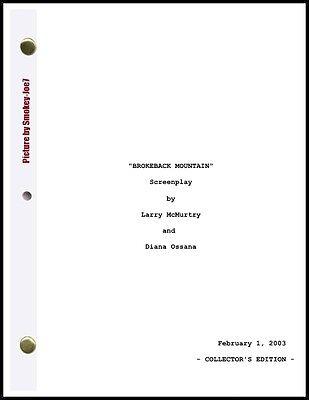 Brokeback Mountain - THE MOVIE SCRIPT / SCREENPLAY