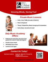 Private Music Lessons - Special Offer – 2 FREE 1/2hr lessons!