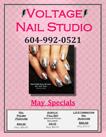 VOLTAGE Nail Studio ☀ May Specials On Now!