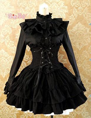 Cosplay Kostüm Abend-Kleid Lolita Gothic Corsage Korsett Schwarz black Korsage