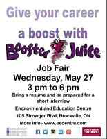 Give your career a boost with Booster Juice - Job Fair at EEC