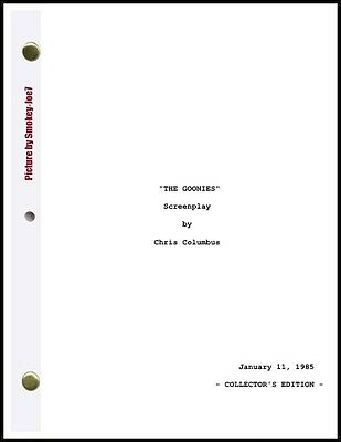 The Goonies - THE MOVIE SCRIPT / SCREENPLAY